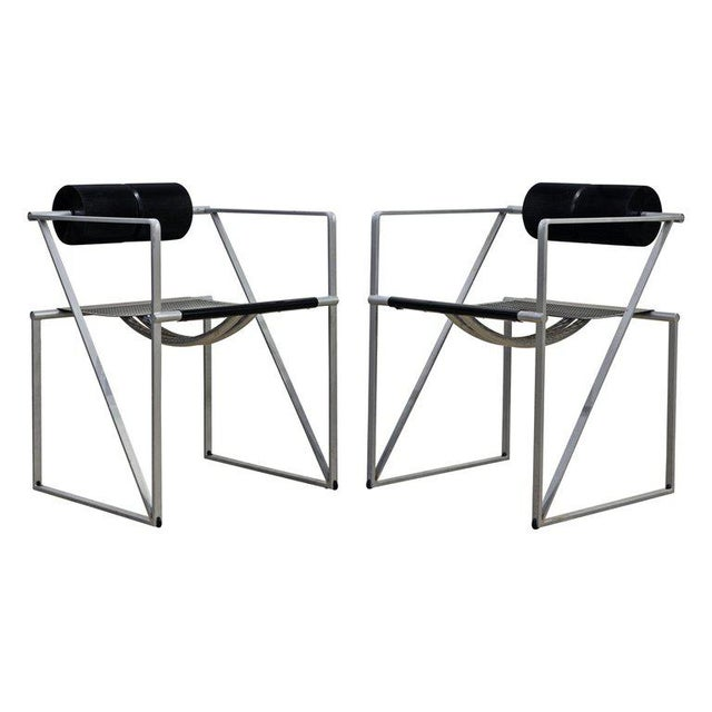Pair of Seconda 602 Armchairs Designed by Architect Mario Botta for Alias, Italy For Sale - Image 13 of 13