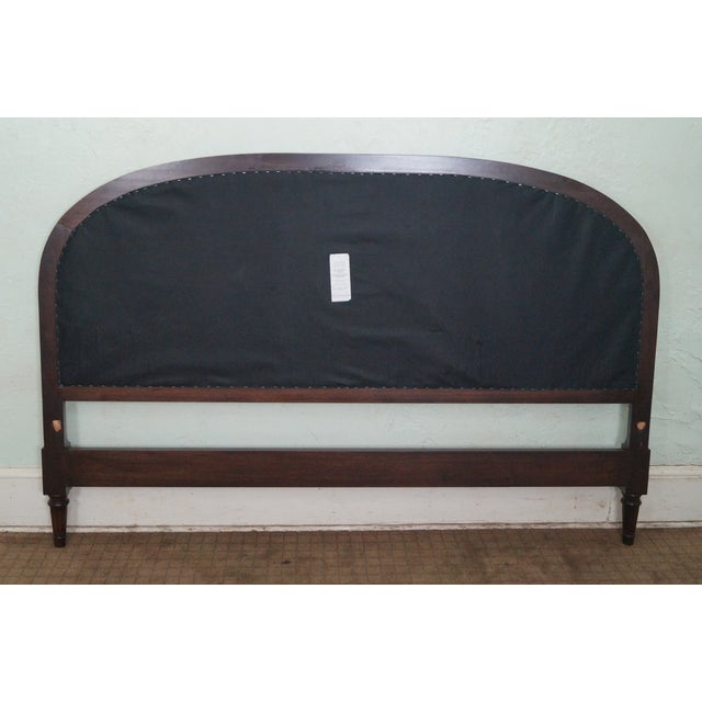 French Louis XVI Tufted Upholstered King Headboard - Image 9 of 10