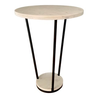 Arteriors Marble & Iron Petra Side Table For Sale