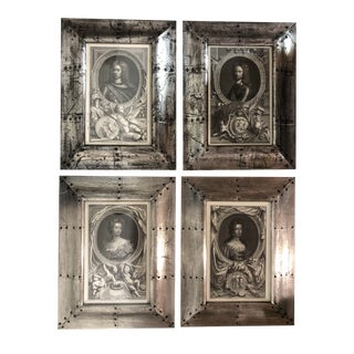 Neoclassical Style Framed Trowbridge Prints - Set of 4 For Sale