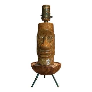 Vintage used austin table lamps chairish mid century kitsch style tri pod tiki table lamp aloadofball Gallery