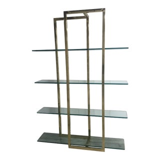 Brass and Glass Etagere For Sale