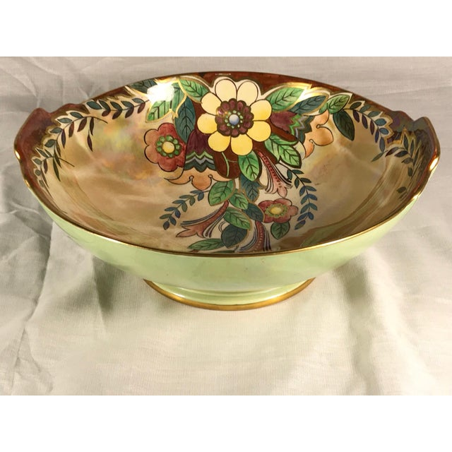 """Beautiful trinket dish marked Royal Winton Grimwades """"Made in England"""". Mid - 20th Century. Beautiful golds are accented..."""