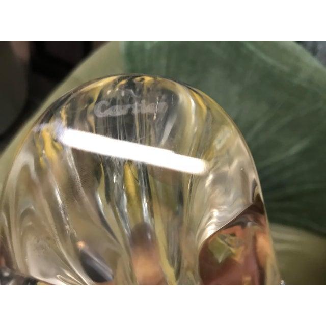 Glass 1980s Art Nouveau Cartier Crystal Ram Head For Sale - Image 7 of 8