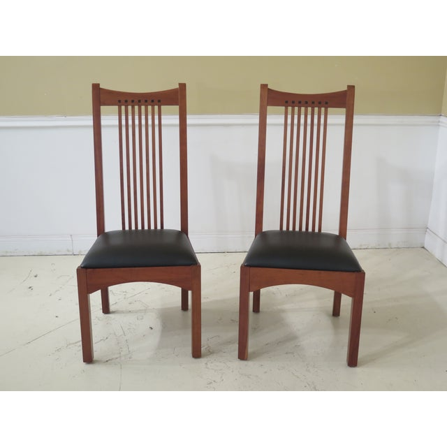 21st Century Stickley Collection Side Chairs- A Pair For Sale - Image 11 of 11
