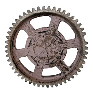 1860s Wooden Decorative Mill Wheel For Sale