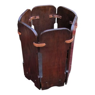 1920s Antique Arts & Crafts Waste Basket For Sale