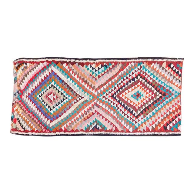 Vintage Persian Kilim Rug - 5′8″ × 12′6″ For Sale