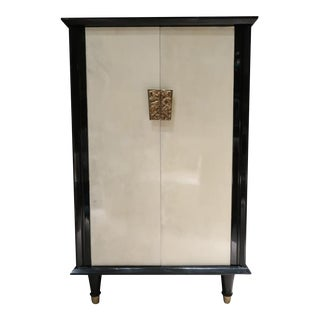 A Lacquered Parchment Bar Cabinet, France 1950