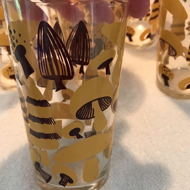 Mid-Century Modern Mushroom Glasses - Set of 8 - Image 8 of 10