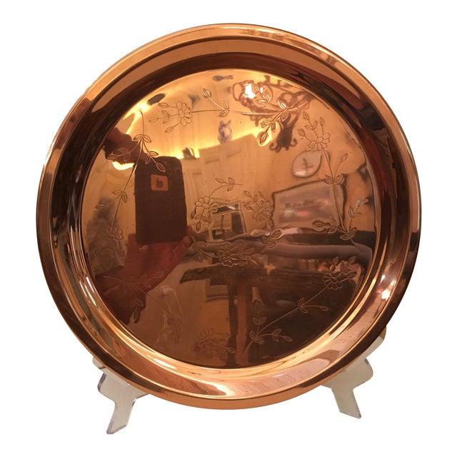 Mid-Century Modern Copper Tray For Sale