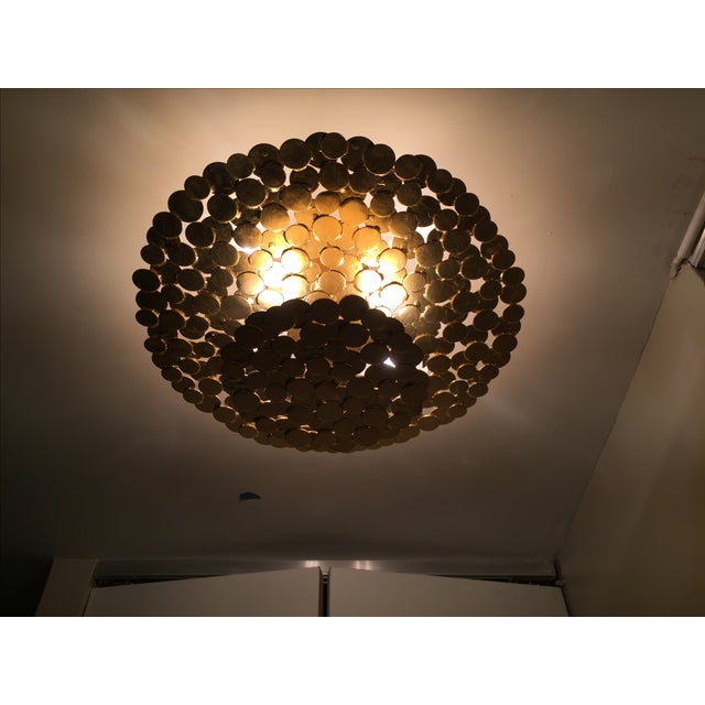 Gold Coin 2 Tiered Ceiling Light - Image 3 of 7