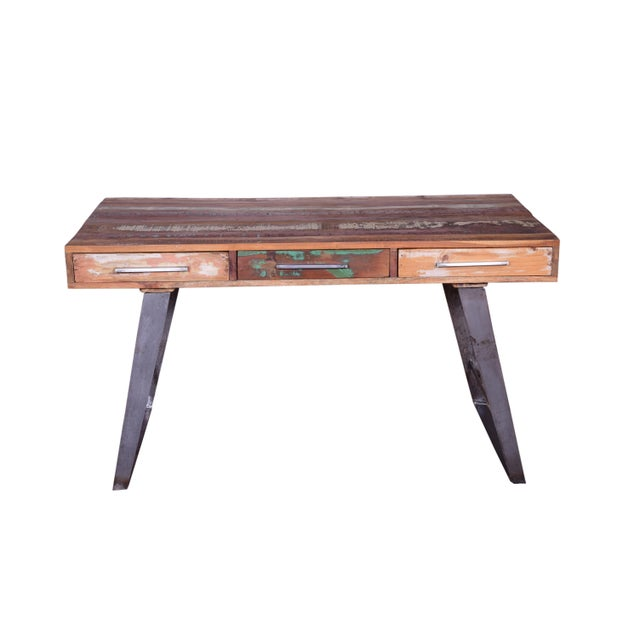2010s Contemporary Josie Wooden Writing Desk For Image 5 Of