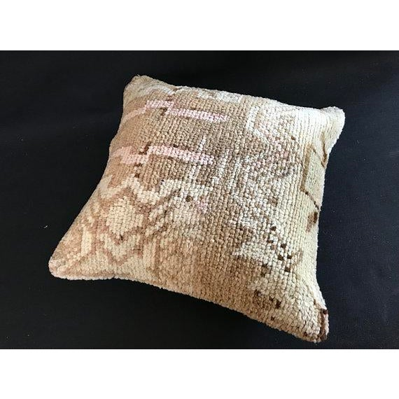 Pink Turkish Oushak Antique Handmade Pillow Case For Sale - Image 8 of 11