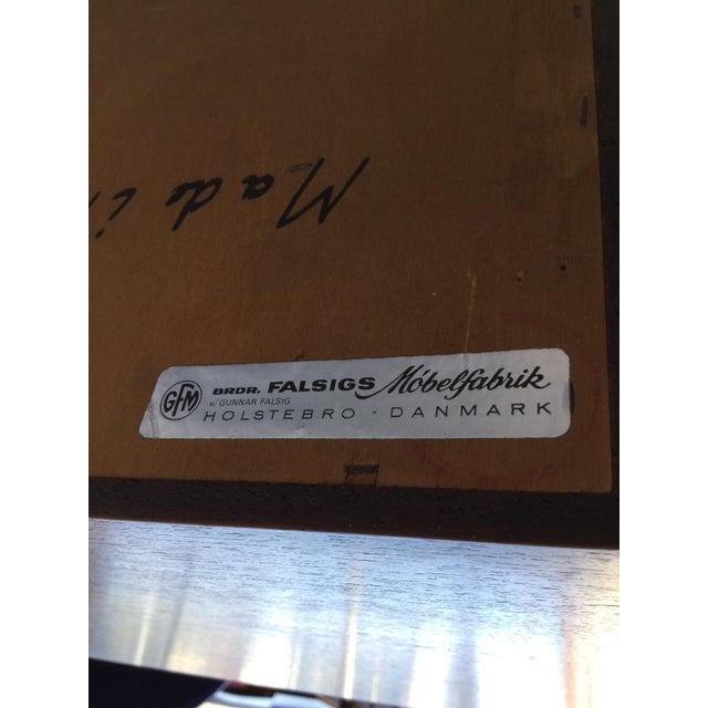 """""""Falsigs"""" Made in Denmark Vintage Teak Desk - Image 6 of 7"""
