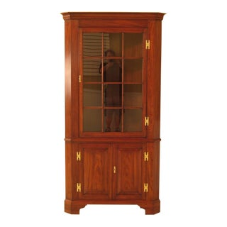1990s Vintage Henkel Harris Cherry Model #114 Corner Cabinet For Sale