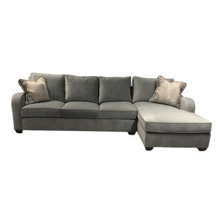 Swaim Factory Transitional 2-Pc Sectional with Pillows For Sale