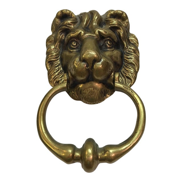 Vintage Brass Lion Head Door Knocker For Sale - Vintage Brass Lion Head Door Knocker Chairish
