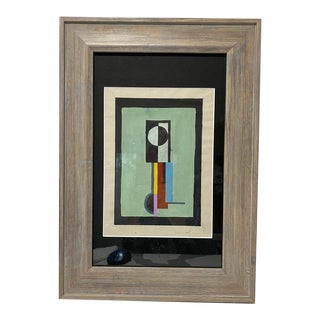 Early 20c Bauhaus Abstract Painting Walter Dexel Constructionist For Sale