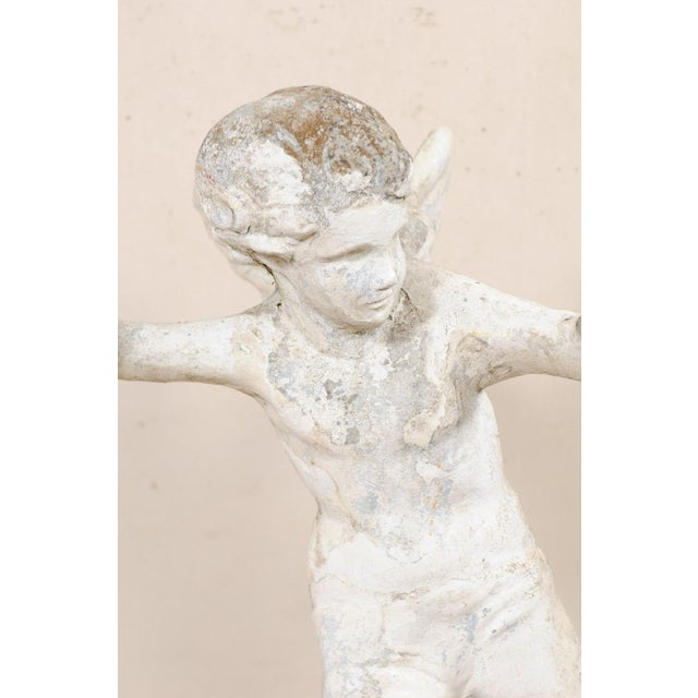 Early 20th Century French Antique Cupid Garden Statue For Sale In Atlanta - Image 6 of 12