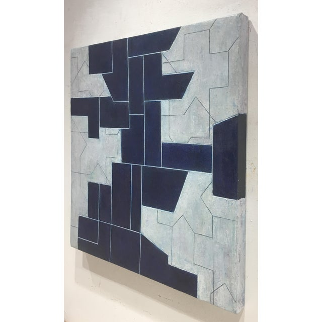 Abstract Geometric Abstract Oil Painting From the Ancient Modern Series by Stephen Cimini For Sale - Image 3 of 7