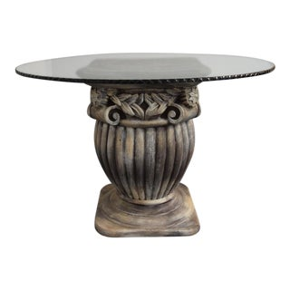 Round Glass Dining Table For Sale