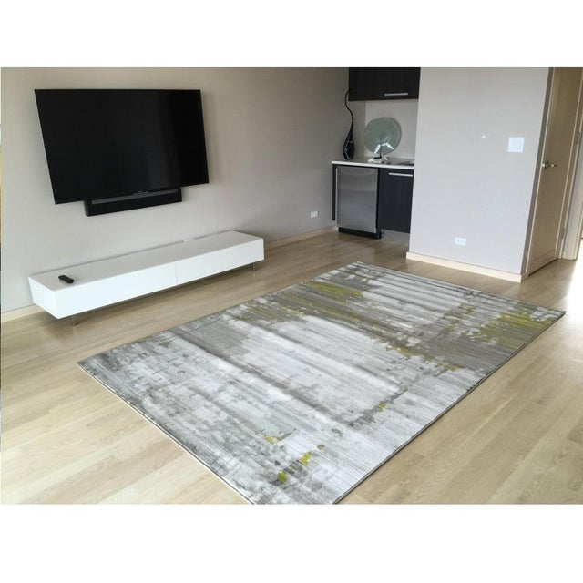 Green Abstract Rug - 5′3″ × 7′8″ - Image 4 of 4
