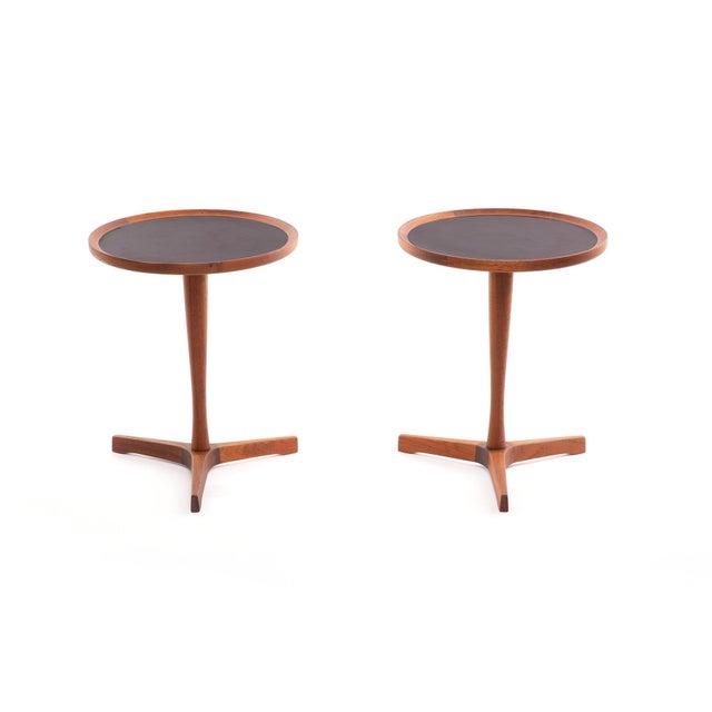 Artek 1960s Danish Teak Hans Andersen Pedestal Tables - a Pair For Sale - Image 4 of 4