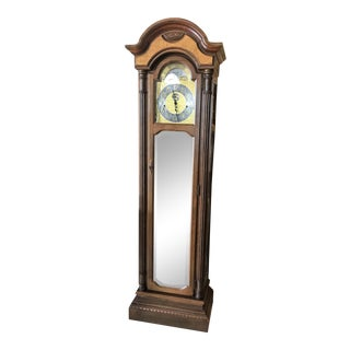1980s Vintage Seth Thomas Grandfather Clock For Sale