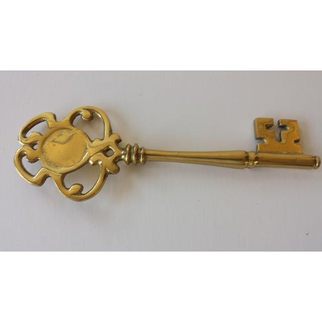 Vintage Brass Skeleton Key - Image 3 of 3