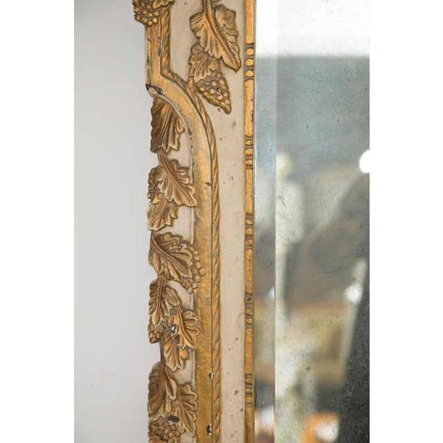 20th Century Louis XVI Style Parcel Gilt and Cream Painted Wall Mirror For Sale In West Palm - Image 6 of 8