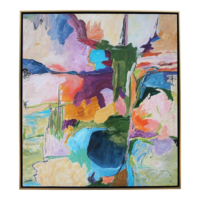 """Abstract Landscape by Laurie MacMillan, """"Almost Somewhere"""" For Sale"""