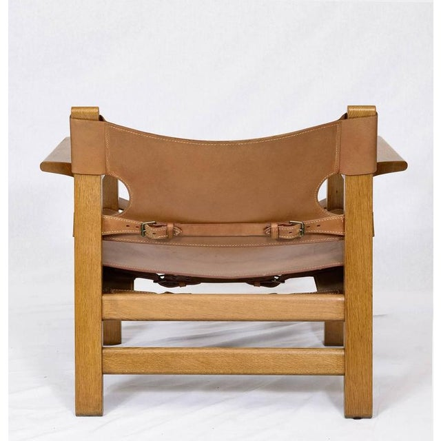 """Wood Pair of Børge Mogensen """"Spanish"""" Chairs For Sale - Image 7 of 10"""