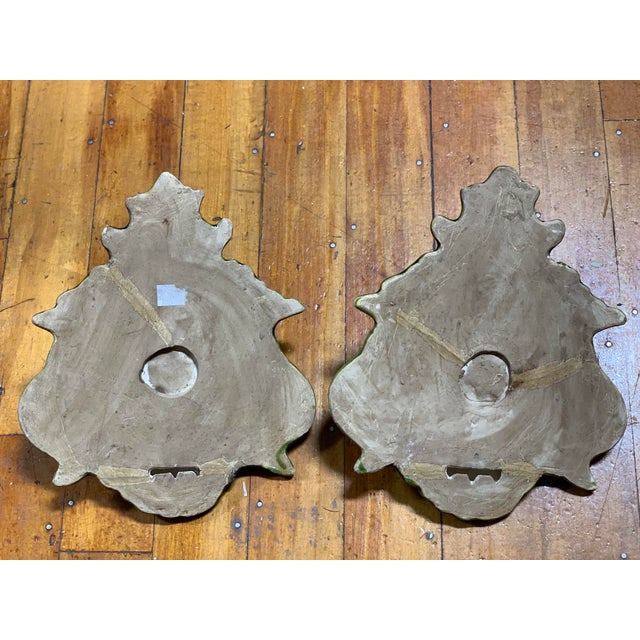 Different. RARE. Collectible. This amazing wall pocket/sconce/shelf pair are just beautiful! Look at the glaze and crazing...