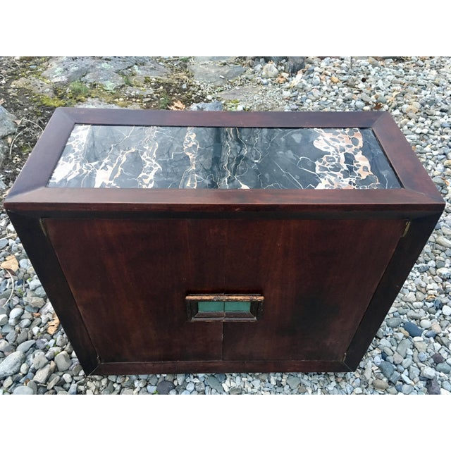 50's Marble Top Bar Cabinet - Image 2 of 11