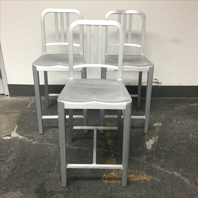 Emeco Counter Stools - Set of 3 - Image 2 of 10