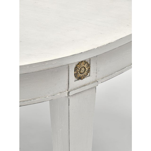 1910s Directoire Style Painted Dining Table For Sale - Image 5 of 9