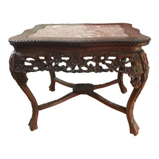 Early 20th Century Antique Chinese Rosewood Side Table