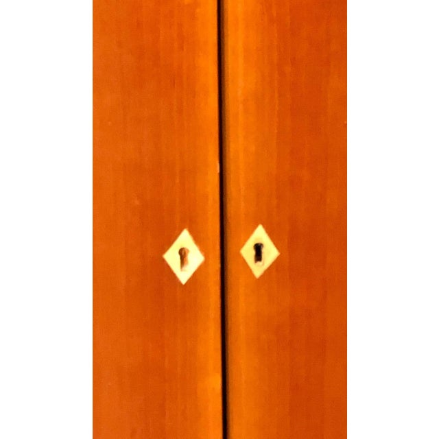 Palatial Six Door Macassar Sideboard Cabinet Ebonized Column and Feet Support For Sale - Image 11 of 13