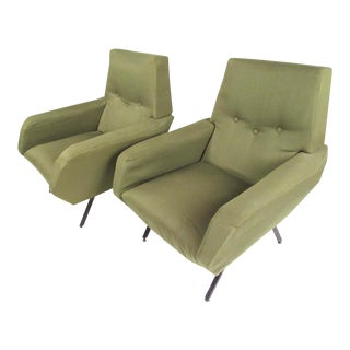 Pair of Italian Modern Armchairs After Osvaldo Borsani For Sale