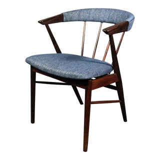 1950s Mid-Century Modern Helge Sibast Rosewood Spindle-Back Armchair For Sale