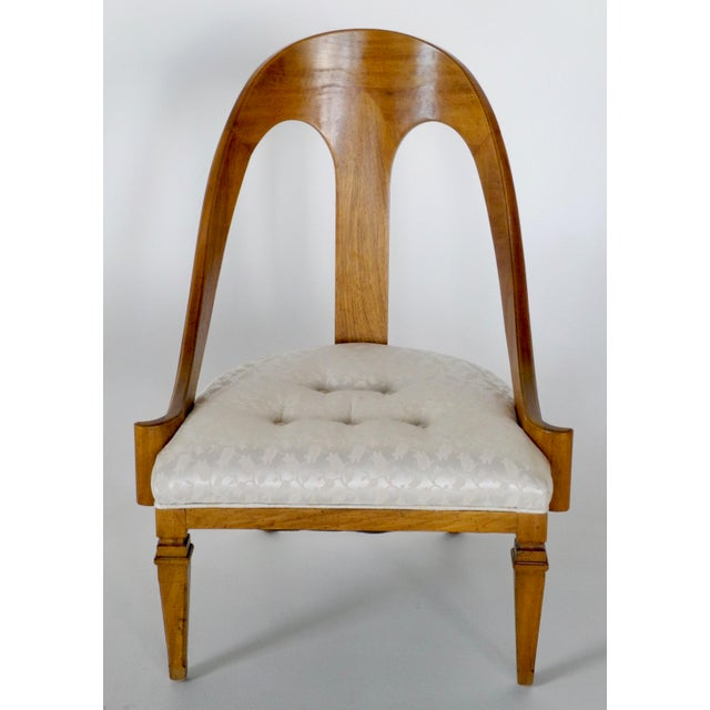 Neoclassical Neoclassical Style Spoon Back Slipper Chair For Sale - Image 3 of 6