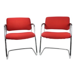 Steelcase Red Chairs - a Pair