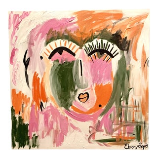 """Sherbet"" Abstract Face Painting For Sale"