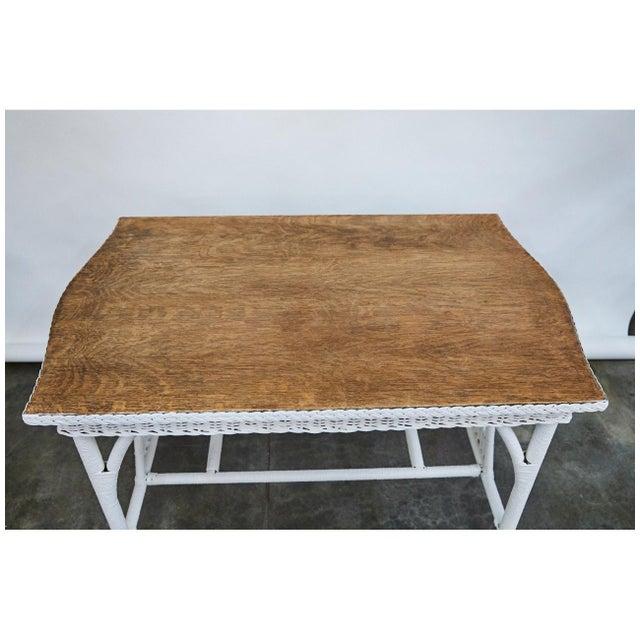 Wicker 1930's Wicker Table For Sale - Image 7 of 8