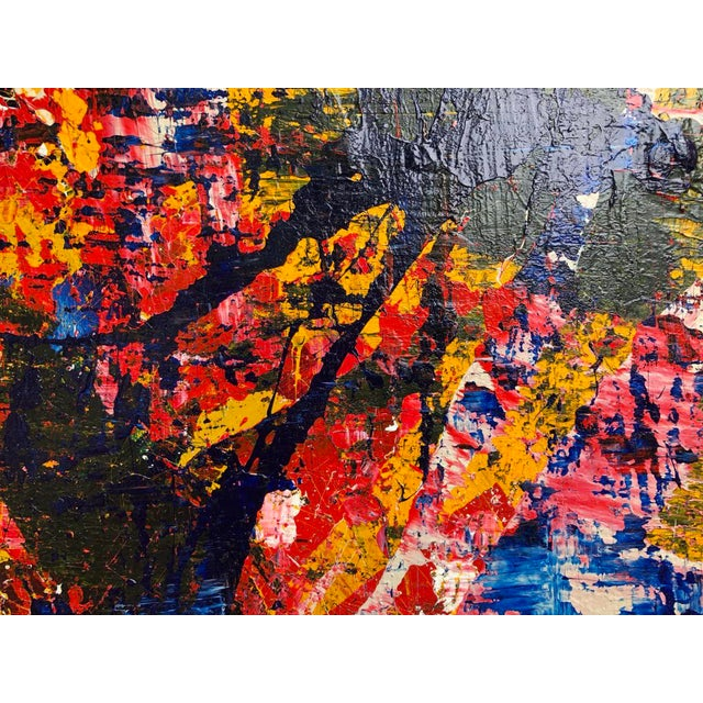 """White Acrylic Painting by Artist Troy Smith - 60"""" X 60"""" Contemporary Art - Abstraction For Sale - Image 8 of 13"""