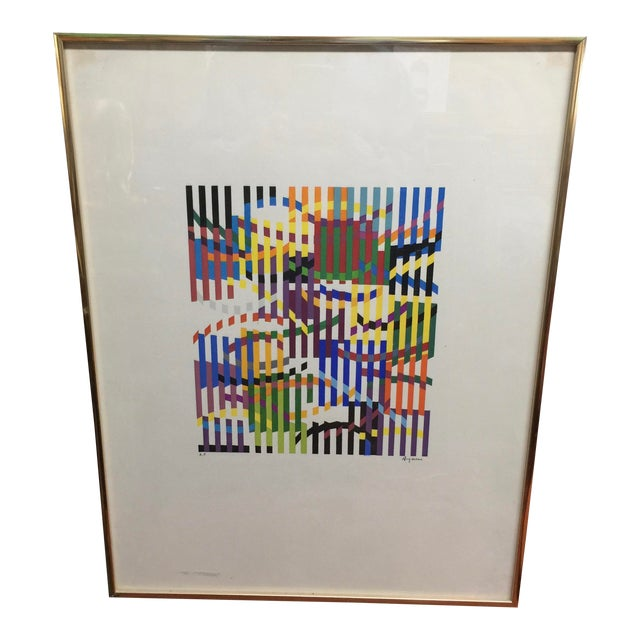 Yacov Agaam 1965 Lithograph Rhytm Artist Proof Signed For Sale