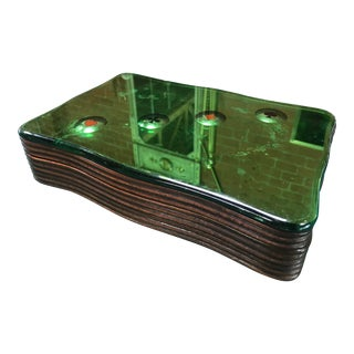 Mid-Century Italian Poker Play Box in Brass and Wood 1960s For Sale