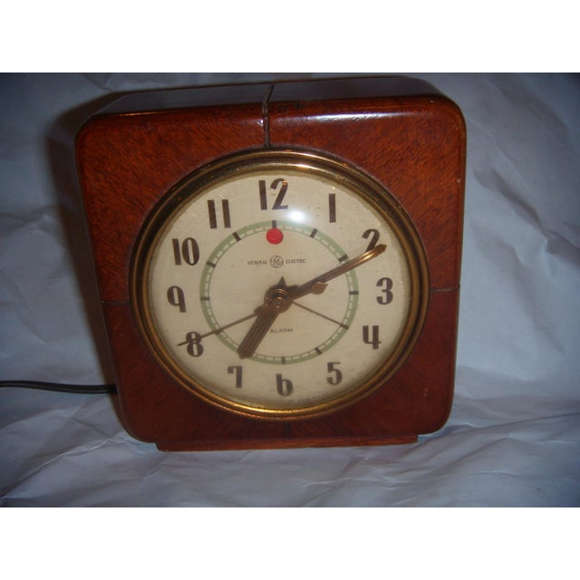 Art Deco Style General Electric Wood Alarm Clock - Image 2 of 9