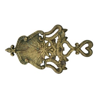 Vintage Ornate Brass Starburst Trivet For Sale